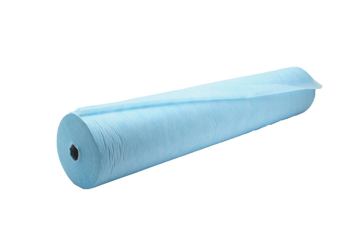 ЧИСТОВЬЕ Простыня SMS 200 х 80 см голубой Комфорт, рулон с перфорацией 75 шт/уп