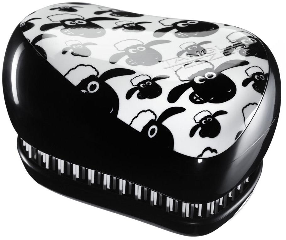 TANGLE TEEZER Расческа / Tangle Teezer Compact Styler Shaun the SheepРасчески<br>Профессиональная распутывающая расческа Tangle Teezer идеально подходит для всех типов волос. Оригинальная форма зубчиков обеспечивает двойное действие и позволяет расчесать сухие и влажные волосы легко и быстро, без рывков и усилий. Благодаря эргономичной форме расчёска удобно ложится в ладонь, позволяя более творчески подойти к процессу укладки. Активные ингредиенты. Состав: гипоаллергенный пластик. Способ применения: оригинальная форма зубчиков обеспечивает двойное действие и позволяет быстро и безболезненно расчесать влажные и сухие волосы. Благодаря эргономичному дизайну, расческу удобно держать в руках, не опасаясь выскальзывания. Расческа дополнена удобным футляром.<br><br>Класс косметики: Профессиональная<br>Типы волос: Для всех типов
