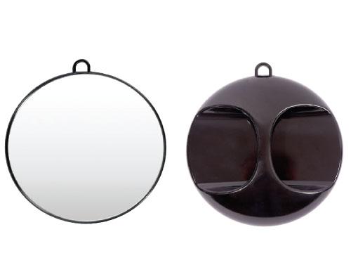HAIRWAY Зеркало заднего вида круглое черное 280ммЗеркала<br>Зеркало заднего вида Hairway в пластиковой оправе, круглое, черное. Размер: 280 мм<br>
