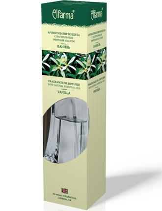 """ELFARMA Ароматизатор воздуха с натуральным эфирным маслом """"Ваниль"""" 90мл"""