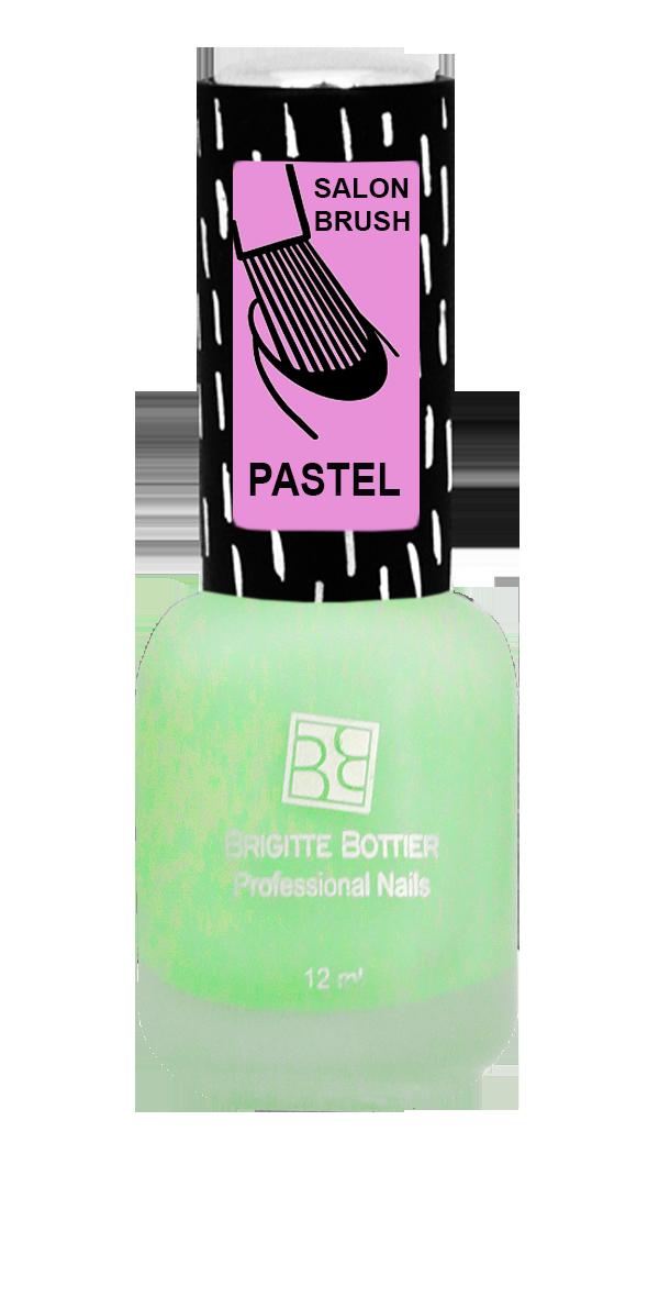 BRIGITTE BOTTIER 325 лак для ногтей матовый, зеленый / PASTEL 12 мл закрепители для лака isadora верхнее покрытие для гелевого лака для ногтейgel nail lacquer top coat 210 6мл