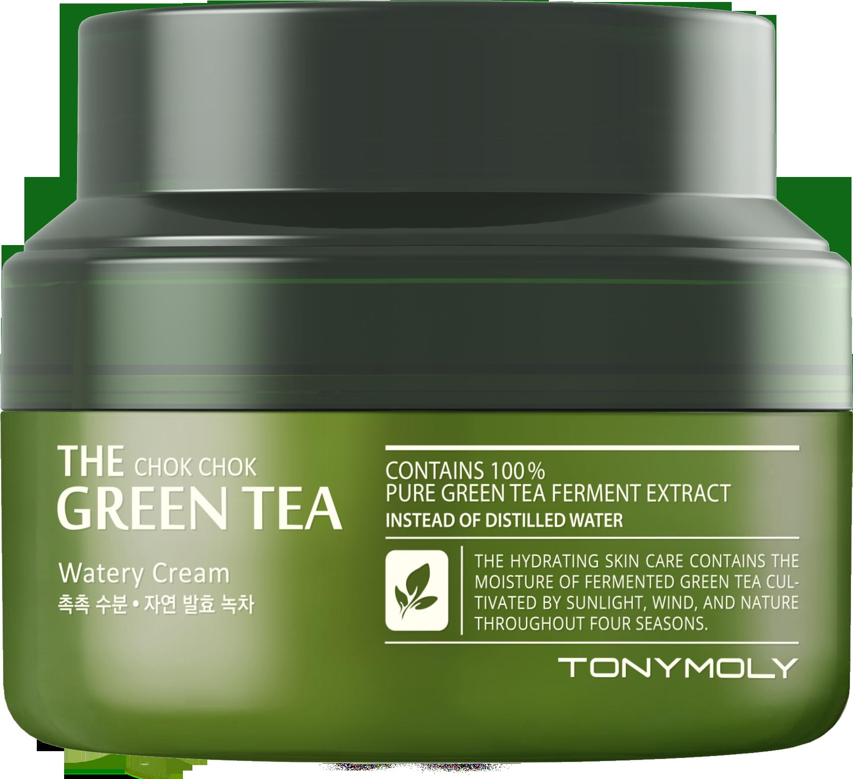 TONYMOLY Крем для лица / The Chok Chok Green Tea Watery Cream2 60 мл tony moly крем с экстрактом зеленого чая the chok chok green tea watery cream 60 мл