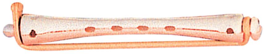 SIBEL Коклюшки длинные белый-розовый 12 шт/уп - Бигуди