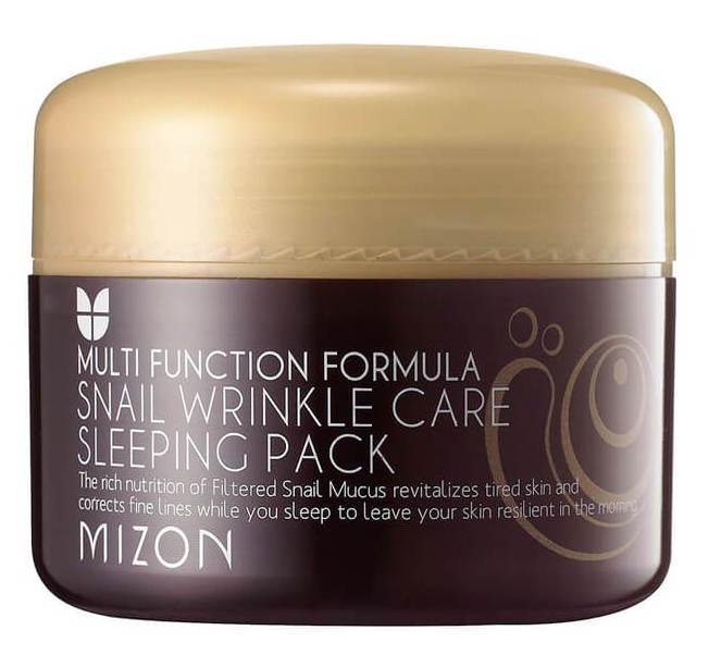 Купить MIZON Маска ночная с муцином улитки против морщин для лица / SNAIL WRINKLE CARE SLEEPING PACK 80 мл