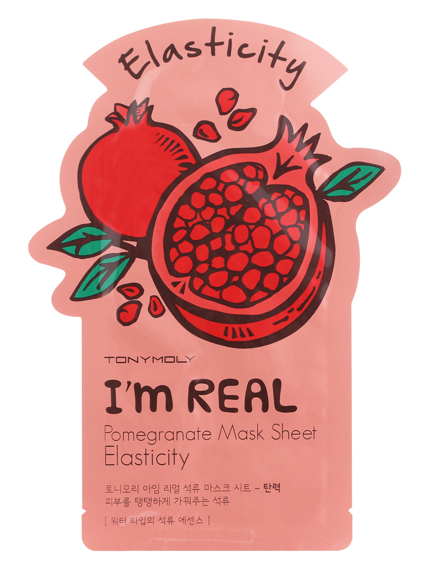 TONYMOLY Маска тканевая с экстрактом граната / I'm Real Pomegranate Mask Sheet2 21 мл missha pure source sheet mask pomegranate объем 21 г