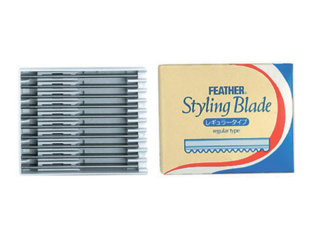 HAIRWAY Лезвия Feather Styling Blade д/бритв 24001, 24003 10 шт/уп