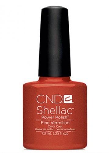 CND 90624 покрытие гелевое Fine Vermilion / SHELLAC 7,3мл cnd 083 покрытие гелевое bare chemise shellac 7 3мл