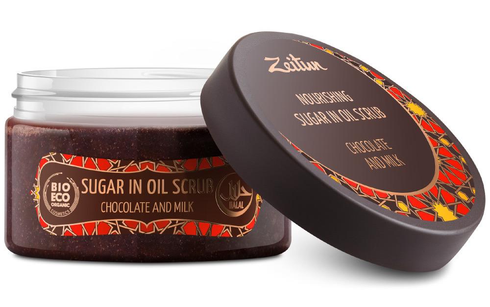 ZEITUN Скраб № 7 питательный Шоколад и молоко 250 мл фото