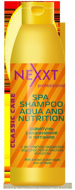 NEXXT professional Шампунь Увлажнение и питание / SPA SHAMPOO AQUA and NUTRITION 1000мл