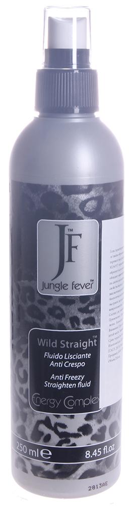 JUNGLE FEVER Спрей выпрямляющий / Wild Straight STYLING&amp;FINISHING 250млСпреи<br>Восстанавливает и помогает распутать волосы. Защищает от высоких температур. Содержит термостойкий компонент Silsoft, керамид А2, масла ши, жожоба, и экстракт зародышей пшеницы, которые позволяют волосам дольше оставаться гладкими. Уменьшает пушистость волос, защищает от влажности и подготавливает волосы к использованию щипцов и фена. Активные ингредиенты: термостойкий компонент Silsoft, керамид А2, масла ши, жожоба, экстракты хвоща полевого и зародышей пшеницы. Способ применения: после мытья головы нанести средство в объеме 3-х нажатий распылителя на всю длину волос, затем выполнить укладку на выпрямление. Перед мытьем, окрашиванием или перманентом обработать волосы от концов к корням для защиты волос по длине. Нанести на волосы от концов к корням перед использованием фена, щипцов, стайлера или утюжков для защиты от теплового воздействия и создания плотного завитка.<br>