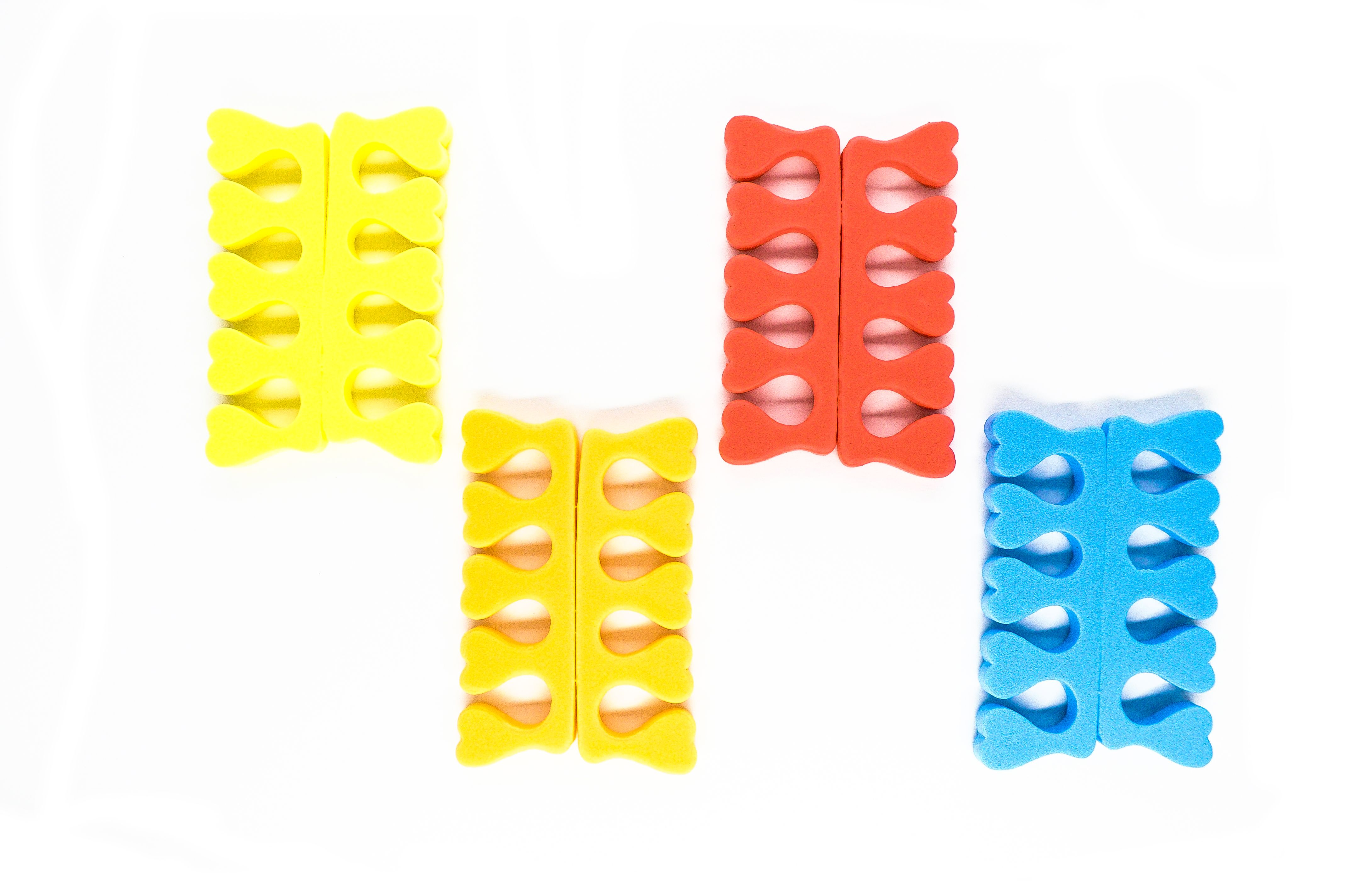 SOLOMEYA Разделители для педикюра (пара) цветные / Pedicure Toe Separators different colors