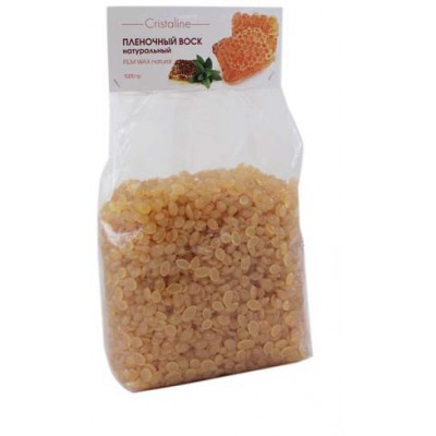 CRISTALINE Воск пленочный натуральный в гранулах 1 кгВоски<br>Пластичный воск на основе сосновой смолы, кокосового масла и каучуковых полимеров. Не оказывает травмирующего действия на кожу, одновременно обладает великолепной адгезией и прекрасно удаляет даже короткие жесткие волоски. Благодаря каучуковым полимерам, воск полностью повторяет рельеф кожи, что обеспечивает высокое качество процедуры депиляции. Идеально подходит для депиляции подмышек и глубокого бикини. Способ применения: благодаря легкой текстуре воск наносится на кожу тонким слоем, что обеспечивает экономичный расход по сравнению с традиционными горячими восками. Рабочая температура 40   42 градуса, что полностью исключает риск ожогов.<br><br>Вид средства для тела: Пленочный