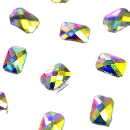 Купить PATRISA NAIL Стразы фигурные Прямоугольник супер-голография 4*5, 5 мм 10 шт