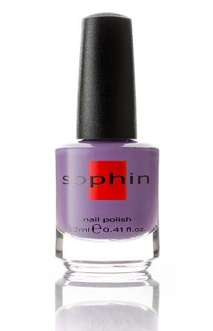 SOPHIN Лак для ногтей, припыленный лиловый 12млЛаки<br>Коллекция лаков SOPHIN очень разнообразна и соответствует современным веяньям моды. Огромное количество цветов и оттенков дает возможность создать законченный образ на любой вкус. Удобный колпачок не скользит в руках, что облегчает и позволяет контролировать процесс нанесения лака. Флакон очень эргономичен, лак легко стекает по стенкам сосуда во внутреннюю чашу, что позволяет расходовать его полностью. И что самое главное - форма флакона позволяет сохранять однородность лаков с блестками, глиттером, перламутром. Кисть средней жесткости из натурального волоса обеспечивает легкое, ровное и гладкое нанесение. Быстро высыхает&amp;nbsp; Превосходно наносится&amp;nbsp; Долго держится&amp;nbsp; Создаёт глубокое блестящее покрытие&amp;nbsp; Легко применяется и удаляется Big5free Активные ингредиенты. Состав: ethyl acetate, butyl acetate, nitrocellulose, acetyl tributyl citrate, isopropyl alcohol, adipic acid/neopentyl glycol/trimellitic anhydride copolymer, stearalkonium bentonite, n-butyl alcohol, styrene/acrylates copolymer, silica, benzophenone-1, trimethylpentanedyl dibenzoate, polyvinyl butyral.<br><br>Цвет: Фиолетовые