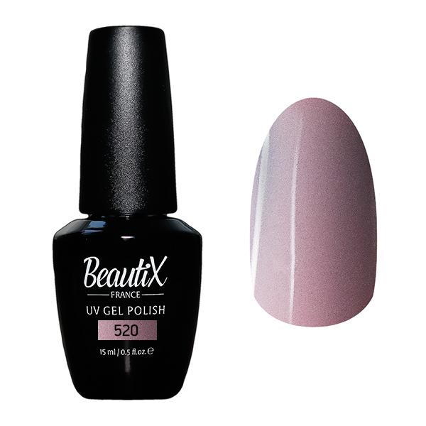Купить BEAUTIX 520 гель-лак для ногтей 15 мл, Розовые