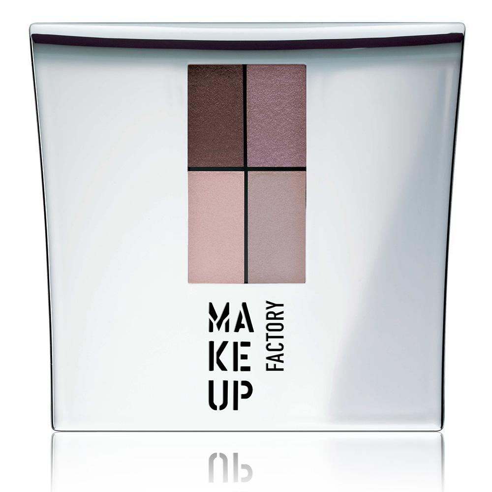 MAKE UP FACTORY Тени 4-х цветные для глаз, 86 коричневый баклажан  сиреневый  розовый  бежевый / Eye Colors 4,8 г - Тени