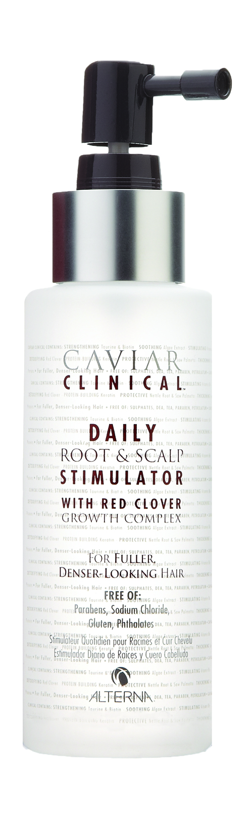 ALTERNA Спрей-активатор для роста волос / Clinical Daily Root & Scalp Stimulator CAVIAR 100 мл alterna спрей активатор для роста волос caviar clinical daily root and scalp stimulator 100 мл