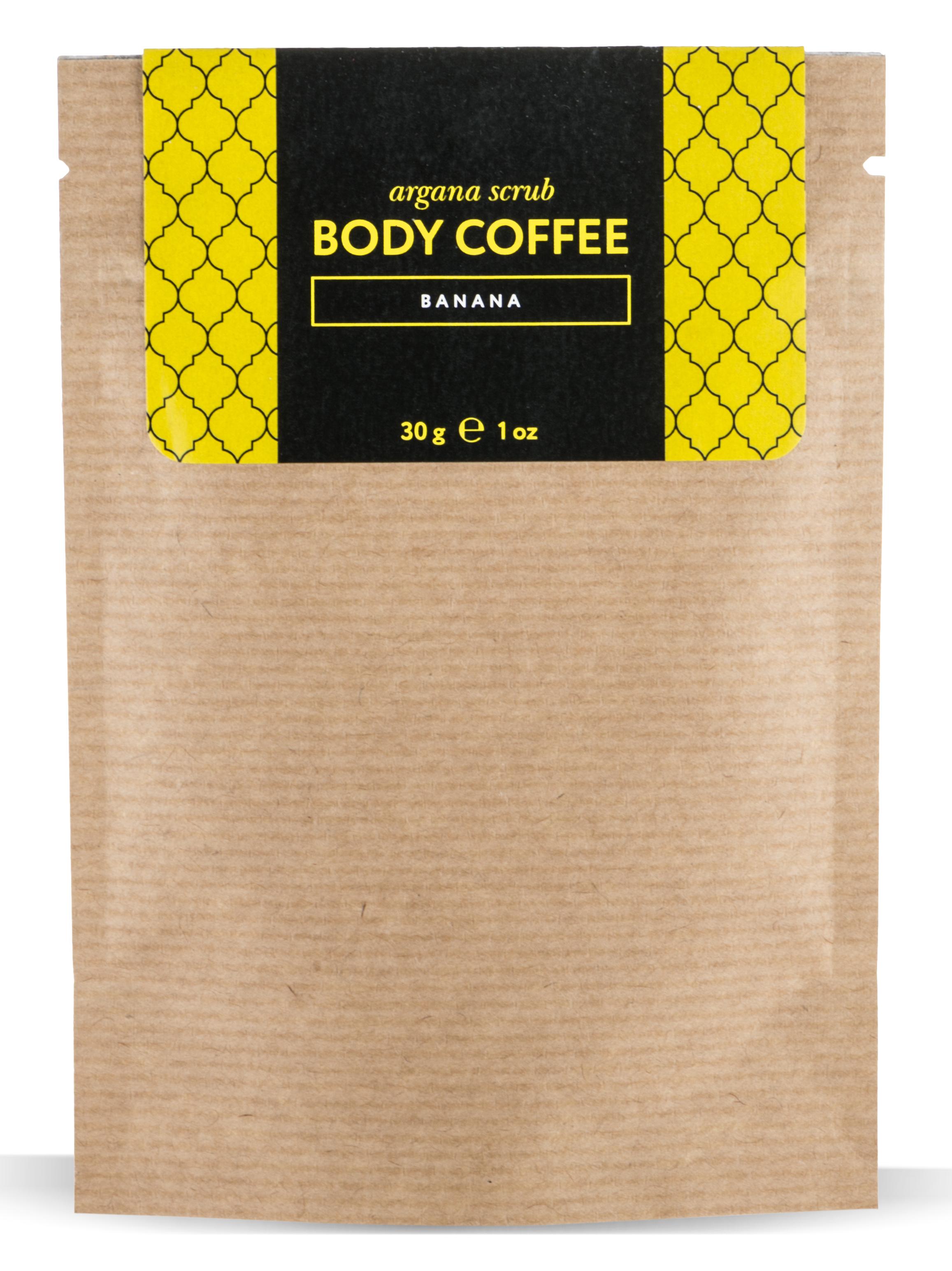 HUILARGAN Скраб аргановый кофейный для тела, банан 30 г