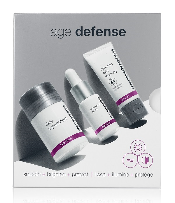 Купить DERMALOGICA Набор для лица Трио для антивозрастной защиты (суперфолиант 13 г, серум 10 мл, восстановитель 12 мл) Age Defense Kit