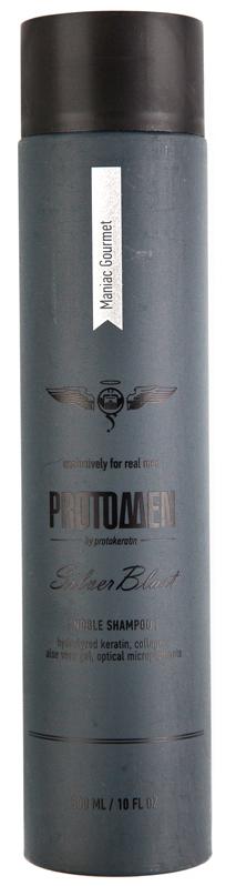 Купить PROTOKERATIN Шампунь для седых и светлых волос, для мужчин / ProtoMEN Silverblast Shampoo 300 мл