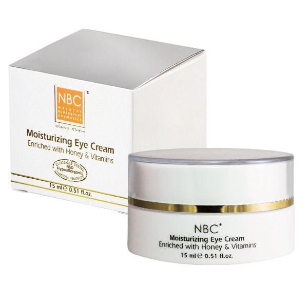 NBC Haviva Rivkin Крем дневной для век / Moisturizing Eye Cream 15млКремы<br>Эффективный, стимулирующий крем укрепляет и защищает кожу, интенсивно питает и увлажняет чувствительную кожу вокруг глаз. Предупреждает процессы старения кожи, придавая упругость и эластичность коже вокруг глаз. Способствует устранению отёчности, предотвращает и разглаживает морщинки.Активные ингредиенты: масло сладкого миндаля, оливковое масло, ретинола пальмитат, токоферола ацетат, мед, ланолин.Способ применения: наносить утром и вечером. Подходит в качестве отличной основы для декоративной косметики.<br><br>Типы кожи: Чувствительная<br>Время применения: Дневной