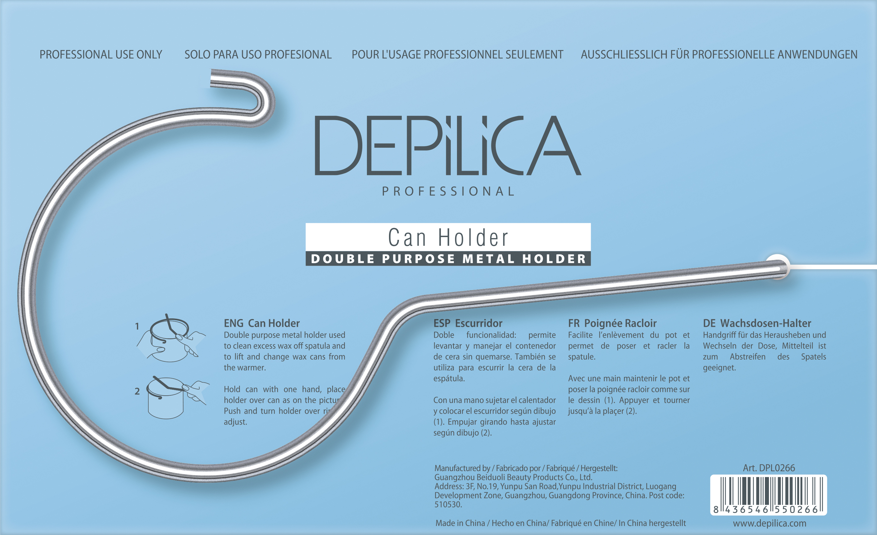 DEPILICA PROFESSIONAL ��������� ��� ����� � ������ / Can Holder 1��