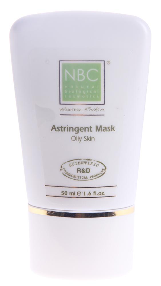 NBC Haviva Rivkin Маска для жирной кожи / Astringent Mask 50млМаски<br>Успокаивает, освежает, отбеливает, снимает покраснения, эффективно очищает и стягивает поры, способствует снижению салоотделения. Рекомендуется также после проведения чистки в косметическом кабинете. Активные ингредиенты: стеариновая кислота, масло сладкого миндаля, чёрная соя, зелёная глина, экстракт морской горчицы, экстракт вьющегося плюща, экстракт мирры, экстракт настурции, пропилен гликоль, экстракт перечной мяты. Способ применения: нанести маску на 10-15 минут, смыть остатки прохладной водой, протереть соответствующим тоником, нанести соответствующий крем.<br><br>Вид средства для лица: Морской