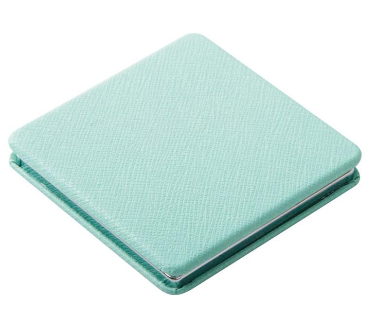 DEWAL BEAUTY Зеркало Палитра карманное, квадратное, голубое 6х6 см