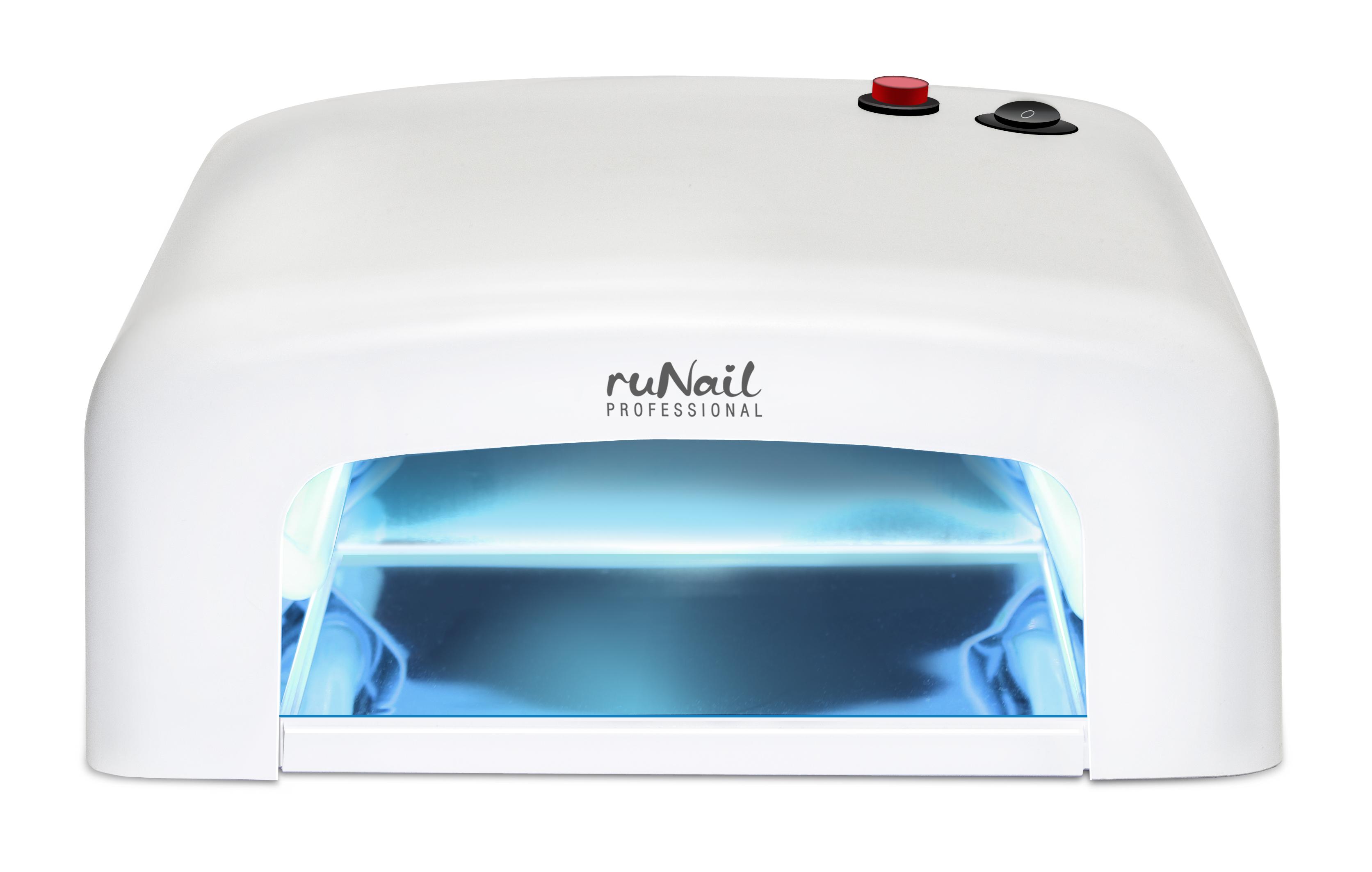 RuNail Лампа-УФ 36 Вт RU 818, таймер 120 с - Оборудование для маникюра