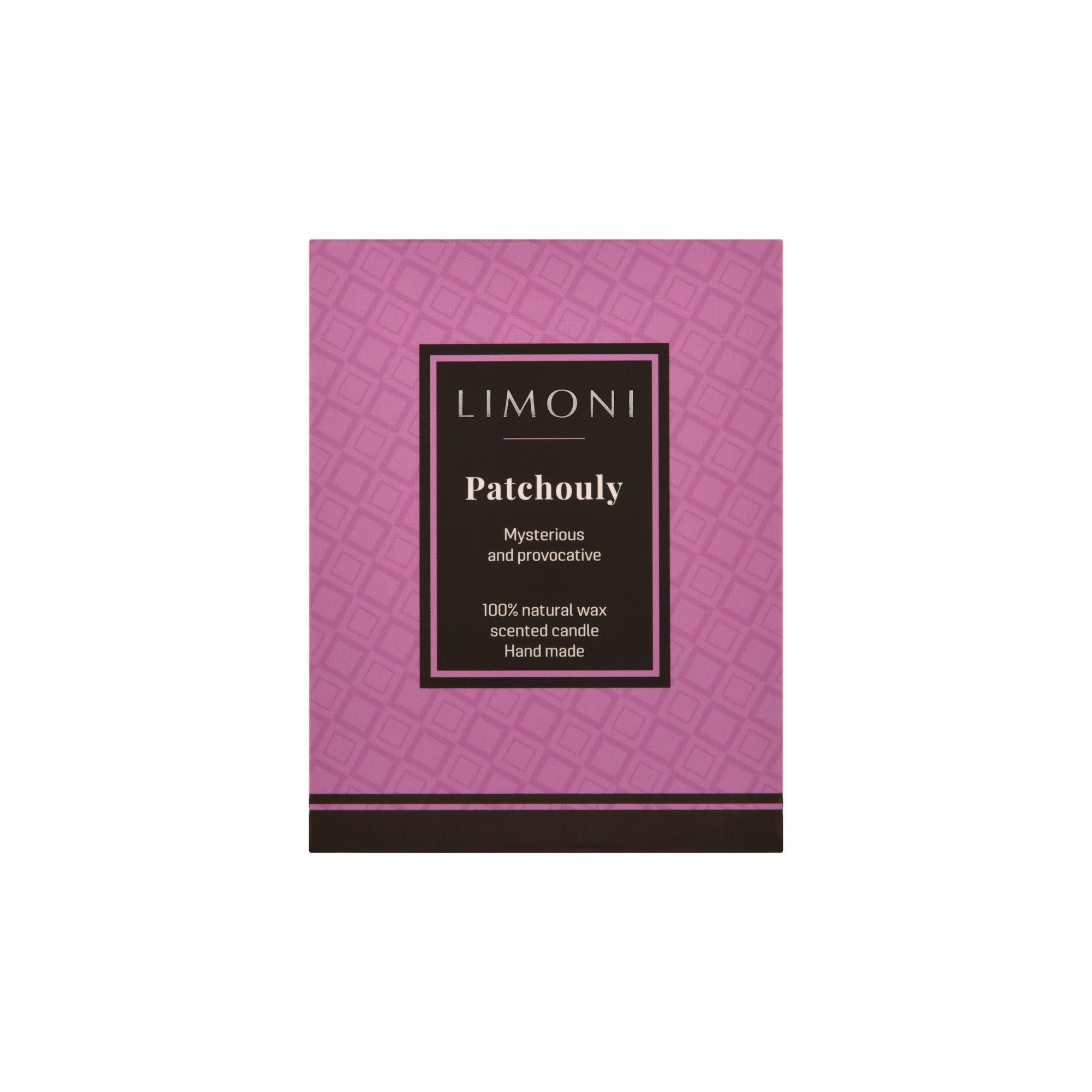 LIMONI Свеча ароматическая Пачули / LIMONI Patchouly, 160 г от Галерея Косметики