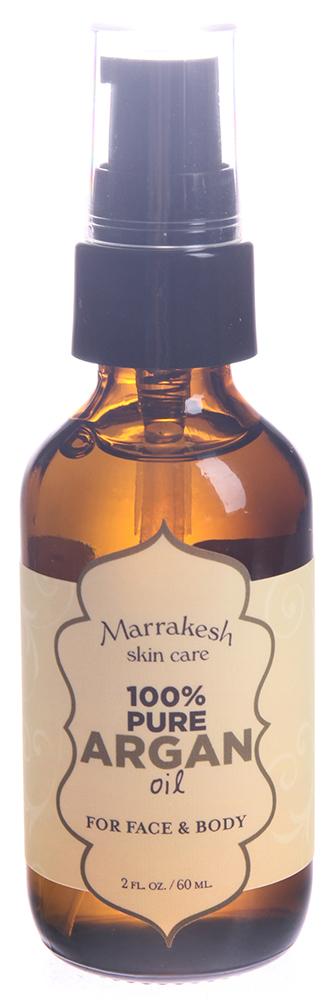 MARRAKESH Масло чистое арганы для лица, тела и волос / Marrakesh Pure Argan Oil 60 млМасла<br>Старинный тайный рецепт изумительной красоты марокканских женщин. Масло Арганы придает здоровое сияние сухой коже, предупреждает появление морщин. Богатое антиоксидантами и эфирными кислотами, чистое масло часто называют  жидким золотом . Масло глубоко увлажняет кожу, замедляет естественный процесс старения кожи, защищает от солнца и других разрушающих кожу факторов. Масло настолько мягкое, что его можно использовать ухаживая за кожей лица. Способ применения: нанесите непосредственно на волосы или на кожу головы, лица и тела, там, где это необходимо<br><br>Объем: 60 мл<br>Типы волос: Поврежденные<br>Назначение: Старение