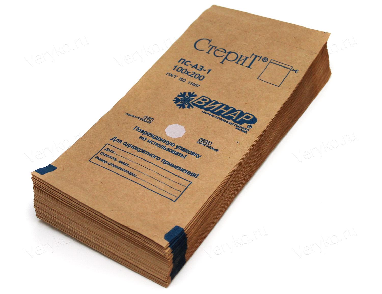 ЧИСТОВЬЕ Крафт-пакет СтериТ 100 х 200 мм с индикатором 100 шт/уп