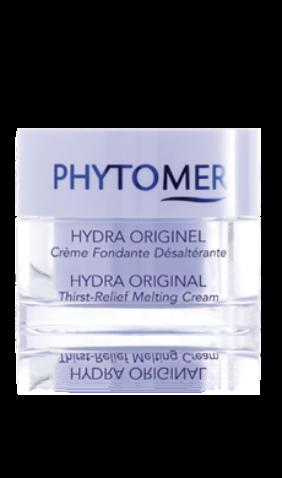 PHYTOMER Крем интенсивно увлажняющий / HYDRA ORIGINAL THIRST-RELIEF MELTING CREAM 50млКремы<br>Увлажняющий крем сливочной текстуры, комфортно обволакивает кожу, обеспечивая пролонгированную гидратацию. Стимулирует производство аквапоринов-8, ответственных за сохранение живительной влаги в кожном покрове, укрепляют липидный барьер и межклеточную когезию. Активные ингредиенты: экстракты ундарии перистой, саликорнии, хлореллы, хондрус криспус, Вода морского источника, масло жожоба, Феогидран, Олигомер, глицины сои. Cпособ применения: небольшое количество крема нанести на предварительно очищенную и тонизированную кожу лица, шеи, декольте легкими впитывающими движениями.<br><br>Объем: 50 мл<br>Вид средства для лица: Увлажняющий