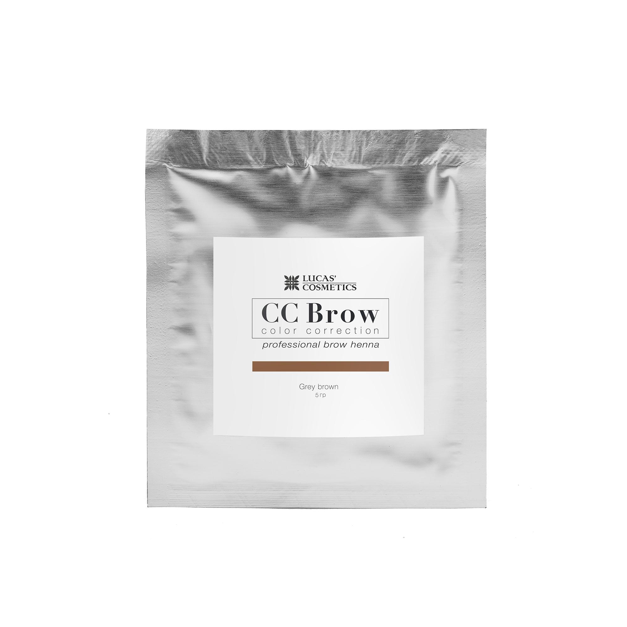 LUCAS' COSMETICS Хна для бровей в саше (серо-коричневый) / CC Brow (grey brown), 5 гр -  Краски для бровей