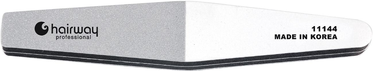 HAIRWAY Пилка 3-х сторонняя с алмазной крошкойПилки для ногтей<br>Пилки для ногтей Hairway выполнены из высококачественного износостойкого материала, различной степени жесткости. Позволяют придать форму и блеск натуральным и искусственным ногтям. Пилки удобны в работе, имеют большой срок службы и легко дезинфицируются.<br>