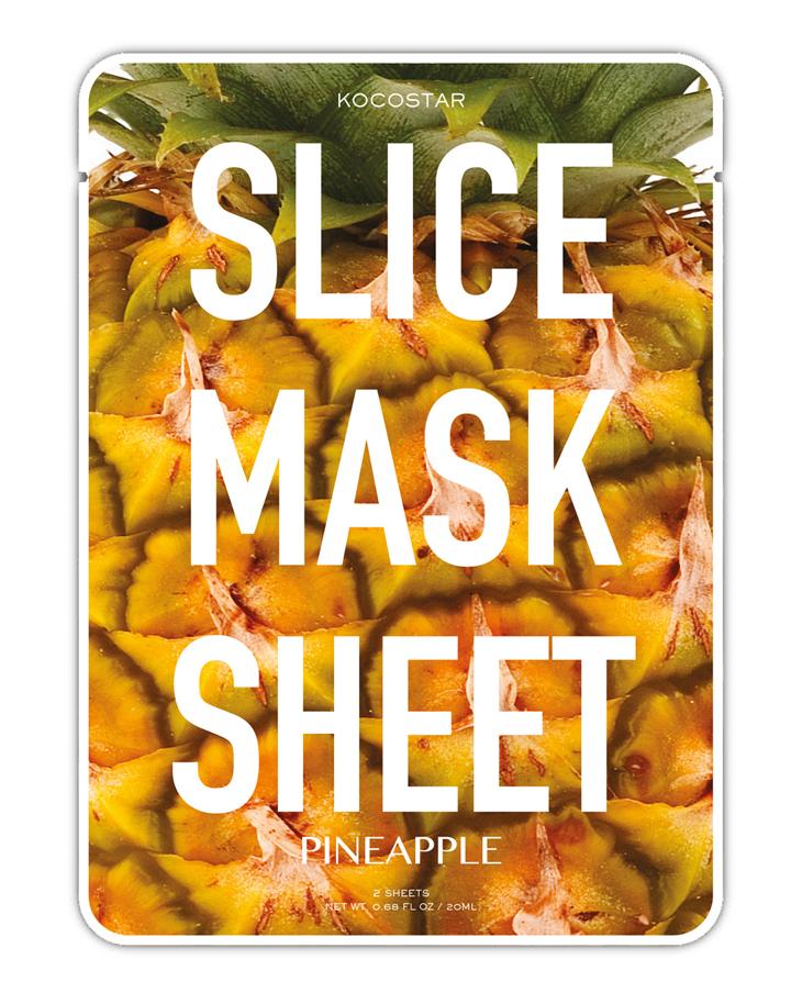 KOCOSTAR Маска-слайс ананас для лица / SLICE MASK SHEET (PINEAPPLE) 20 мл тканевые маски и патчи kocostar маска слайс для лица алоэ вера 20мл