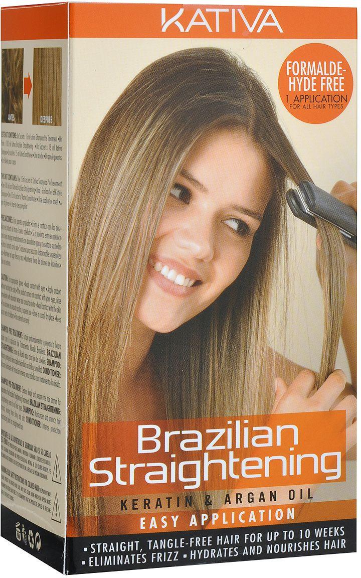 KATIVA Набор для кератинового выпрямления и восстановления волос с маслом арганы / KERATINA  - Купить