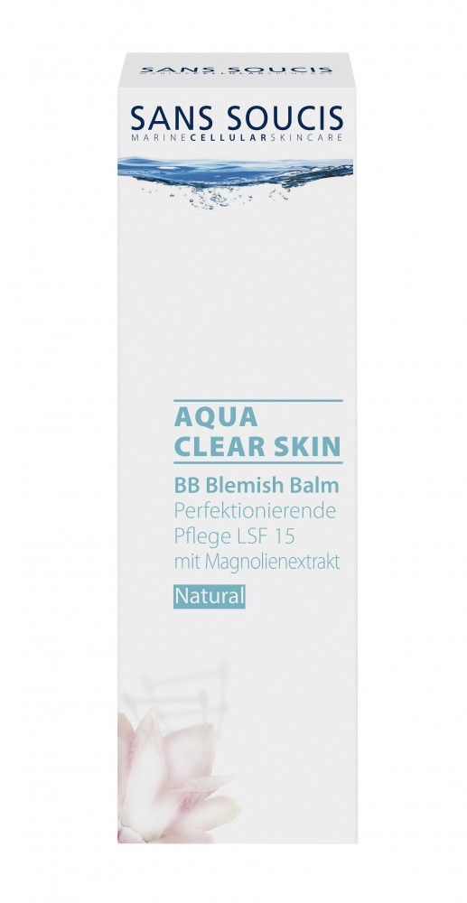 SANS SOUCIS Крем ВВ SPF 15 натуральный / AQUA CLEAR SKIN BEAUTY BALM CREAM, SPF 15 / Natural 40мл