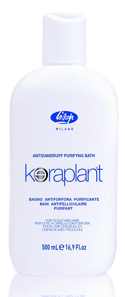 LISAP MILANO Шампунь очищающий против перхоти для волос / KERAPLANT 500млШампуни<br>Специальный очищающий шампунь для волос против перхоти  Keraplant Purifying Antidandruff Bath  со смягчающим и антимикробным действием. Активные ингредиенты (пироктон оламин, альфа-бисаболол, адиантум венерин волос) способствуют отшелушиванию, препятствуя новому появлению перхоти. Уже после первого применения снимает зуд и воспаление кожи головы. Активные ингредиенты: пироктон оламин, альфа-бисаболол, адиантум венерин волос. Способ применения: нанести шампунь на влажные волосы и мягко промассировать, затем ополоснуть водой. Повторить нанесение и оставить шампунь на волосах на 2 минуты перед окончательным ополаскиванием. Рекомендуется использовать в комплексе с Keraplant Purifying Antidandruff Lotion.<br><br>Вид средства для волос: Очищающий<br>Назначение: Перхоть