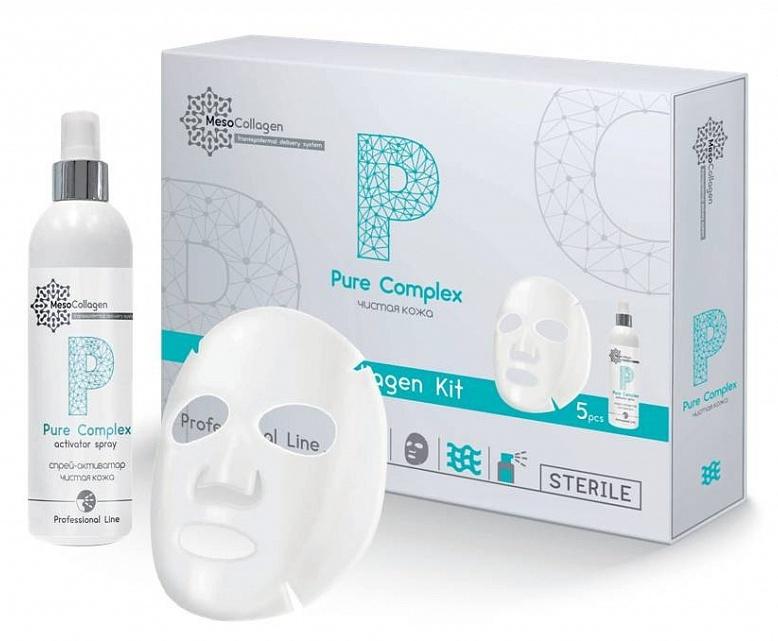 MEDICAL COLLAGENE 3D Набор Чистая кожа (аппликаторы для лица 5 шт и спрей 150 мл) / Pure Complex MesoCollagen