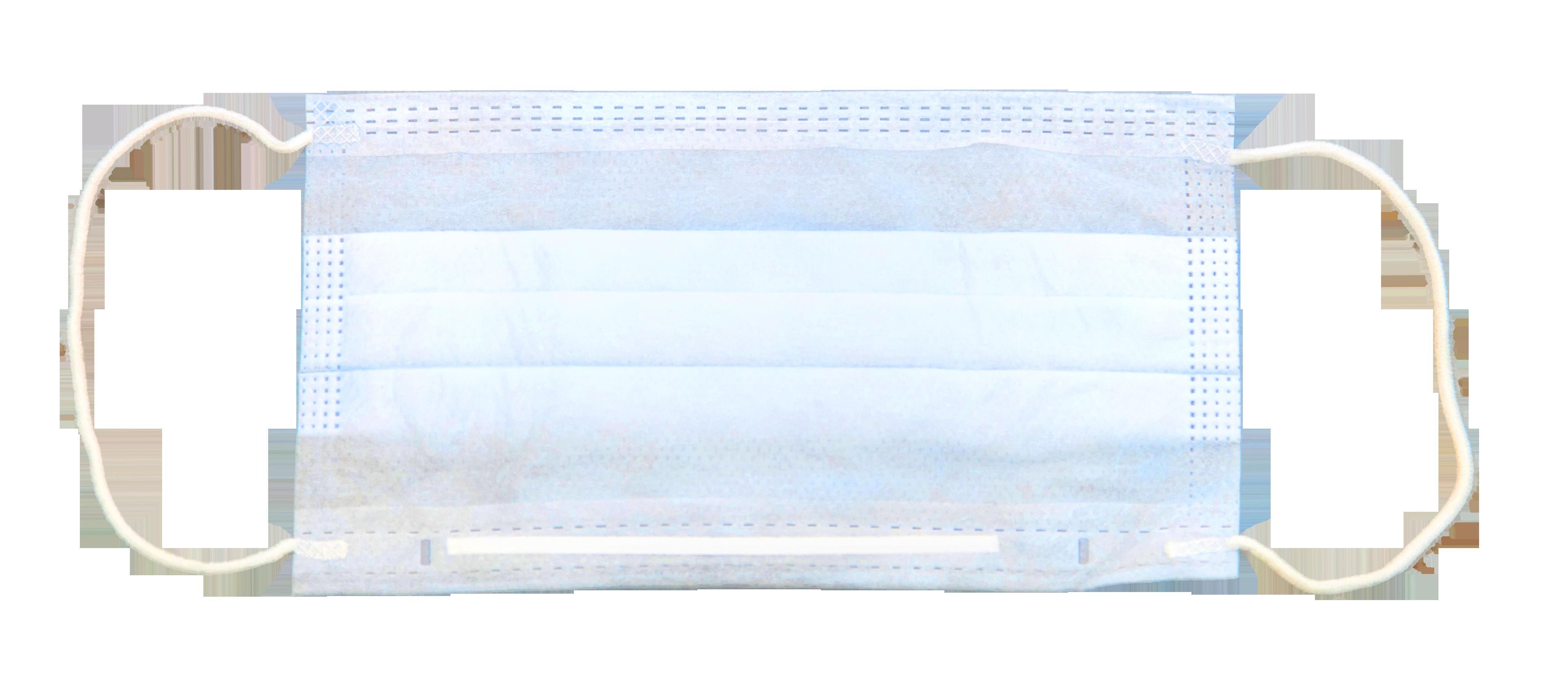 ЧИСТОВЬЕ Маска 3-х слойная на резинках 100 шт/упк (голубая)