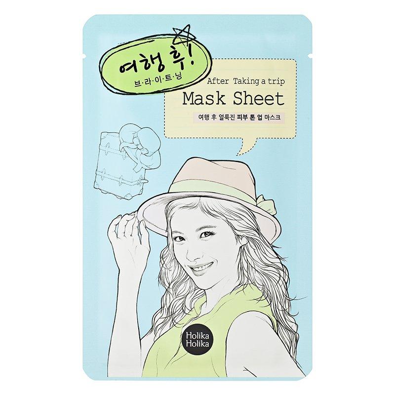 HOLIKA HOLIKA Маска тканевая для лица После поездки / After Mask Sheet - After Trip 1шт holika holika тканевая маска after mask sheet after drinking