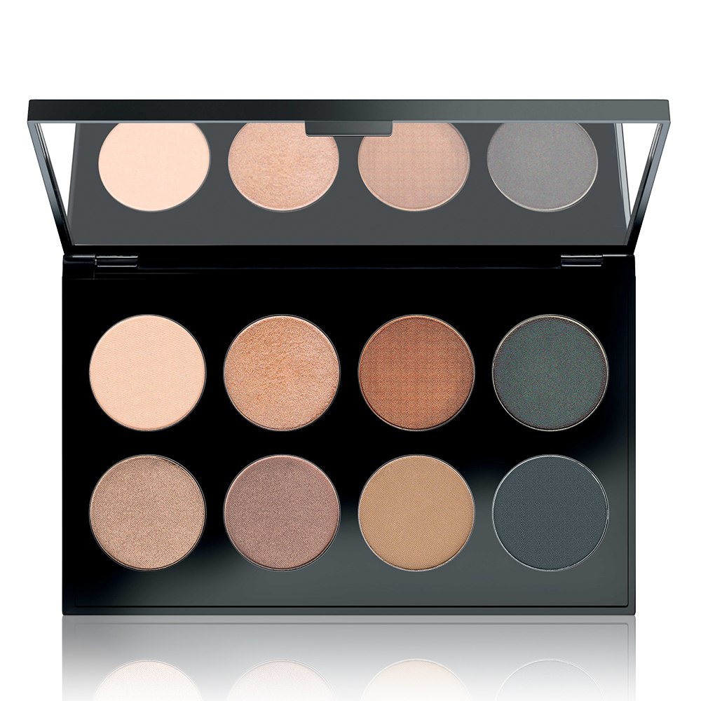 MAKE UP FACTORY Палитра теней для глаз № 29 / International Eyes Palette Smoky Slavic 8*1,5 г