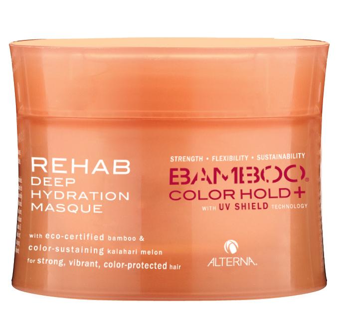 ALTERNA Маска восстанавливающая уход за цветом / BAMBOO COLOR CARE UV+ 150млМаски<br>Интенсивная восстанавливающая маска для глубокого увлажнения окрашенных или поврежденных волос. Насыщает волосы полезными жизненно важными жирными кислотами, восстанавливает оптимальный гидро-липидный баланс волос и кожи головы. Способствует эффективному сохранению и защите цвета за счет запатентованной технологии Color Hold UV+. Ароматическая композиция наполнена освежающими и бодрящими оттенками красного апельсина, листвы эстрагона и мандарина с узнаваемыми аккордами лотоса, мускуса и древесины тикового дерева. Активные ингредиенты: экстракт натурального органического бамбука, экстракт органической калахарской дыни, ароматическая композиция. Способ применения: нанесите оптимальное количество Восстанавливающей маски-ухода за цветом (в зависимости от длины и густоты волос) на вымытые, подсушенные полотенцем волосы. Равномерно распределите маску по всей длине, тщательно втирая в волосы. Оставьте маску минимум на 5 минут, затем смойте водой. Для интенсивного ухода: оставьте маску на 20 30 минут под воздействием тепла (сушуар, климазон), предварительно надев полиэтиленовую шапочку. Остудите и тщательно смойте водой. Используйте 1 2 раза в неделю.<br><br>Вид средства для волос: Восстанавливающий<br>Класс косметики: Натуральная