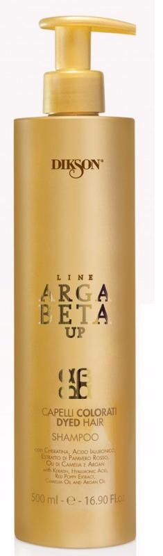 DIKSON Шампунь для окрашенных волос с кератином / ARGABETA UP Capelli Colorati 500мл