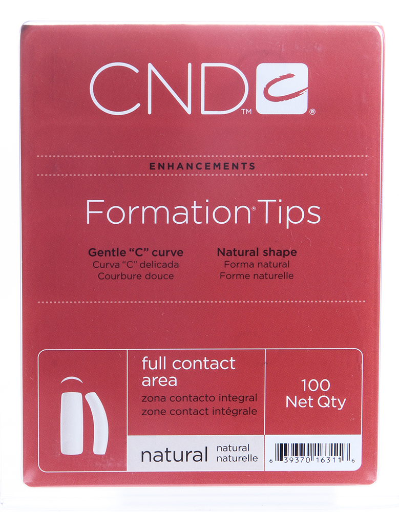 CND Типсы / Formation 100 шт cnd типсы cnd clear eclipse 16818 100 шт