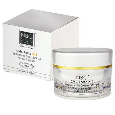 NBC Haviva Rivkin Крем мультивитаминный / CMC-Forte х4 SPF 30 50млКремы<br>Омолаживающий крем для зрелой кожи (40+). Предотвращает образование новых морщин, разглаживает уже имеющиеся. Предотвращает появление возрастных пигментных пятен, а также способствует их коррекции. Проникая глубоко в дермис, этот уникальный препарат провоцирует рост коллагеновых и эластиновых волокон, пропуская через мембрану клетки витамины. Активные Анти-эджинг комплексы и микроэлементы стимулируют нормальное функционирование клеток и обогащают их жизненным ресурсом. Крем 24-часового действия. Активные ингредиенты: масло сладкого миндаля, калмосенсин, масло ши, витамины А, Е, В3 и К, масло зародышей пшеницы, масло семян моркови, масло авокадо, масло жожоба, масло календулы, масло какао, Cholesterol - липид фруктоза, глицин, гидролизованный белок пшеницы, камедь рожкового дерева, инновационные увлажнители. Способ применения: небольшое количество крема наносить при необходимости утром и вечером после соответствующего очищения на влажную кожу.<br><br>Вид средства для лица: Омолаживающий