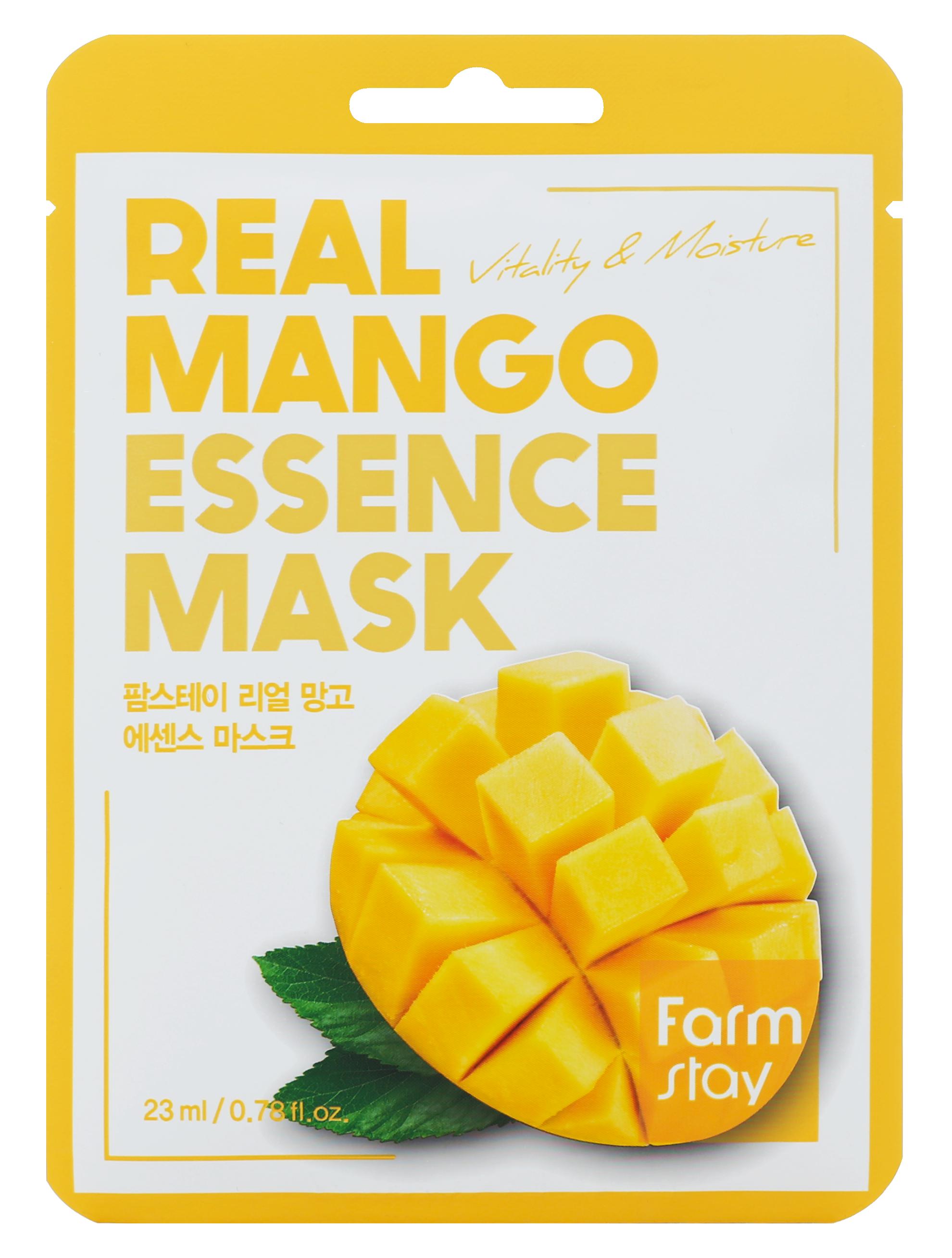 Купить FARMSTAY Маска тканевая с экстрактом манго для лица 23 мл