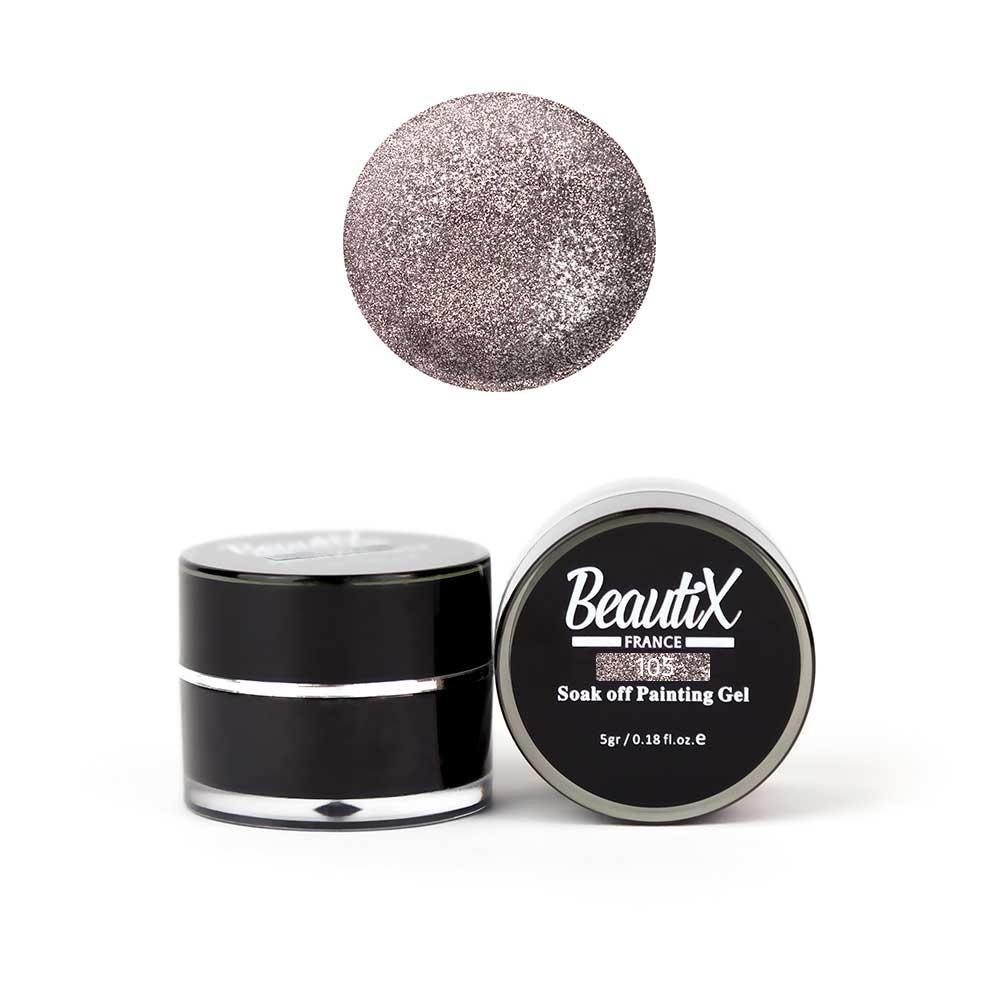 Купить BEAUTIX Глиттер мелкозернистый, 105 светло-розовый / Gel Painting Glitz 5 г