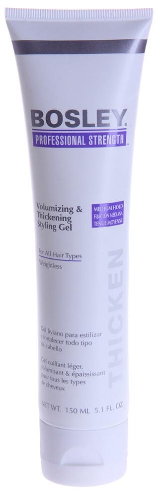 BOSLEY Гель для объема и густоты волос 150млГели<br>Не содержащий спирт гель средней фиксации для укладки и финиша. Содержит натуральные производные для увеличения силы волос и дополнительного объема. Действие: Обеспечивает эластичную стойкую фиксацию. Комплекс LifeXtend&amp;trade; поддерживает здоровое функционирование волос. Увлажняет, питает, усиливает и укрепляет фолликулы и ствол волос, делая волосы толще и плотнее на вид. Технология ColorKeeper&amp;trade; помогает защитить и сохранить цвет окрашенных волос. Защищает от влаги и неблагоприятного воздействия высоких температур. Активные ингредиенты: LifeXtend&amp;trade; Комплекс, Color Keeper&amp;trade;, Комплекс защиты от влаги и высоких температур. Способ применения: Наносить на чистые влажные волосы, сушить феном или естественным образом.<br><br>Вид средства для волос: Стойкая<br>Типы волос: Окрашенные